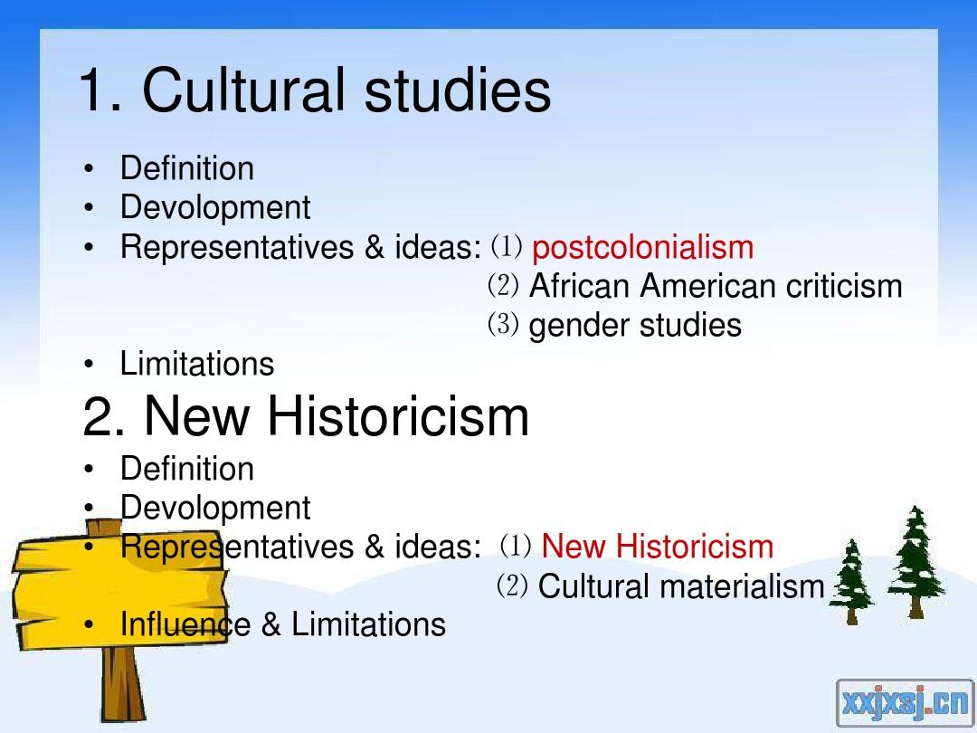 Cultural Studies & New Historicism_图文_百度文库