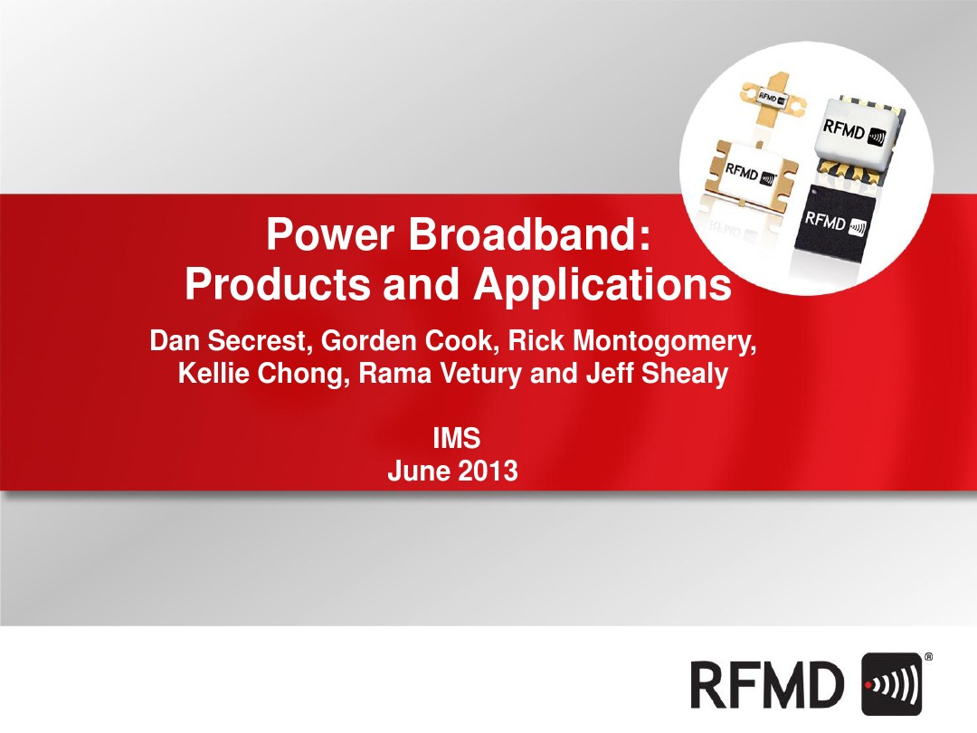 Rfmd 9w Gan Wideband Power Amplifier
