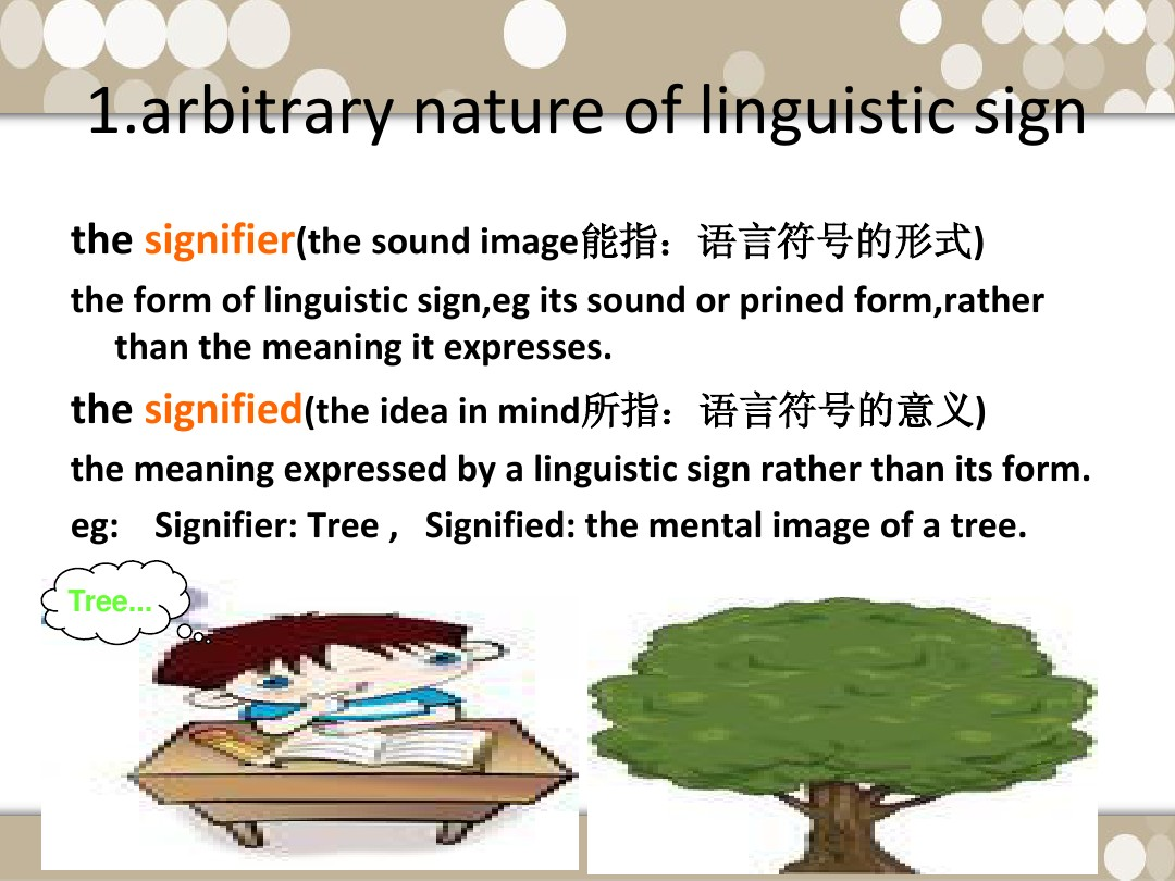 the nature of linguistic sign
