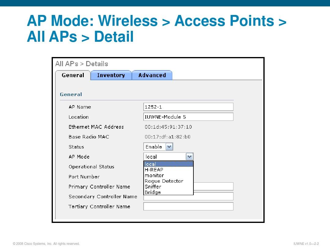 Cisco Ap Modes