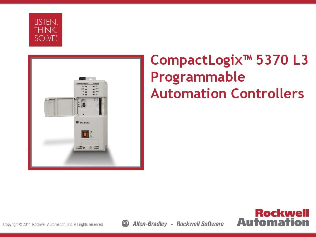 CompactLogix 5370 L3 PACs External_图文_百度文库