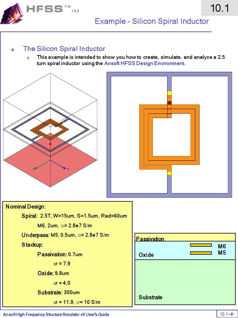 Ansoft Hfss 10 1 Spiral Inductor(1)(1)_图文_百度文库