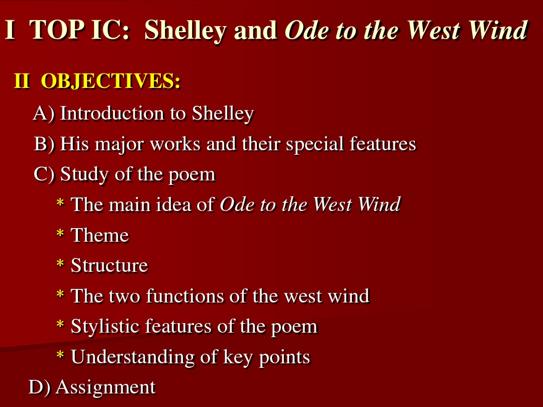ode to the west wind poem text