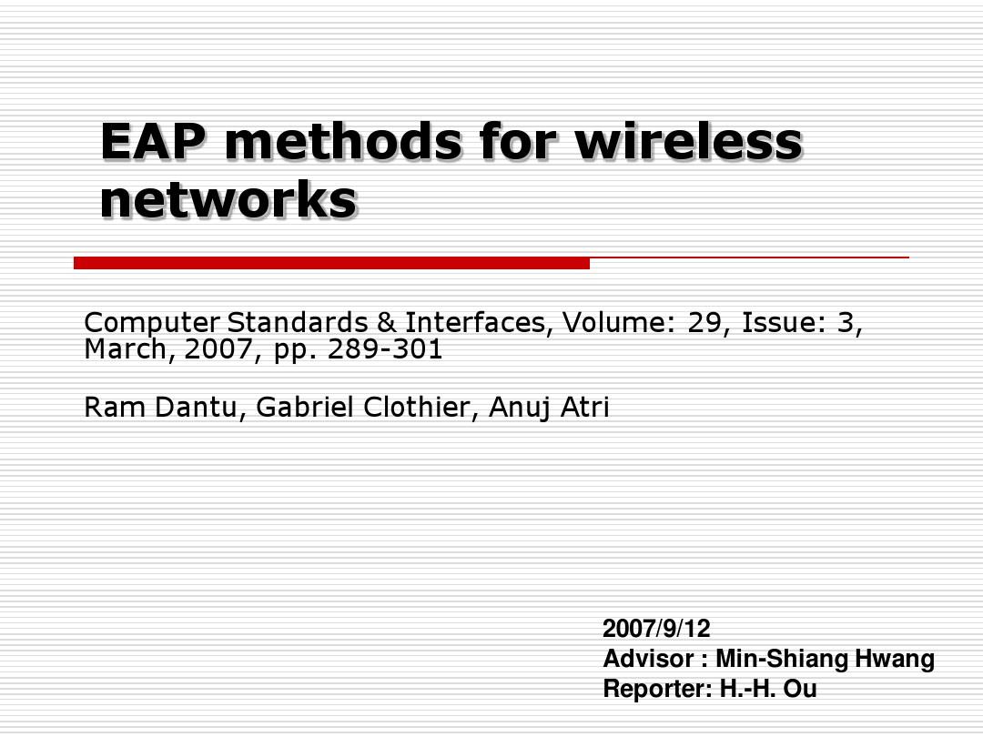 无线网络EAP认证方法经典PPT_图文_百度文库