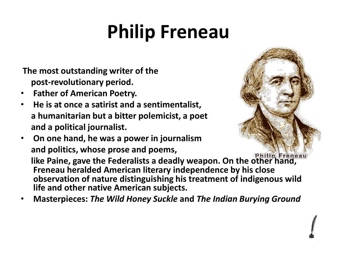 philip freneau on the emigration to america