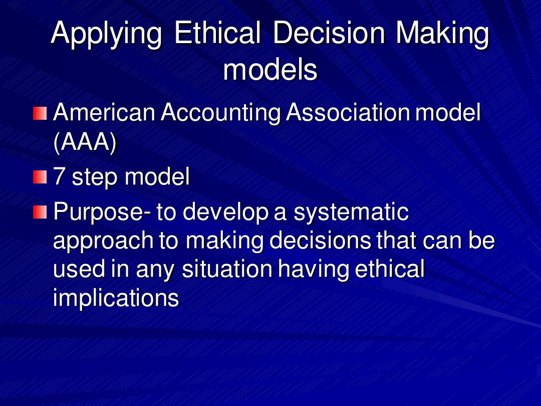 Ethical Decision Making Model_图文_百度文库