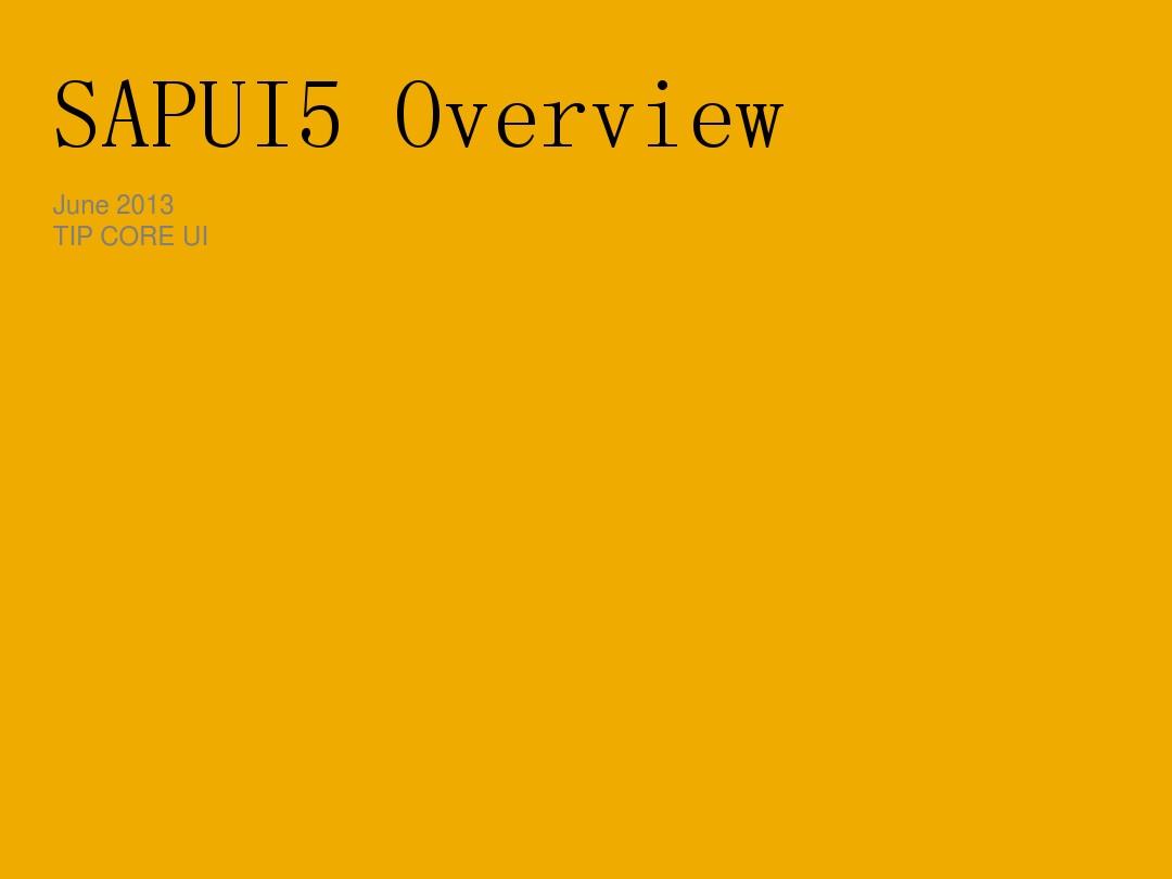 SAPUI5_Training_图文_百度文库