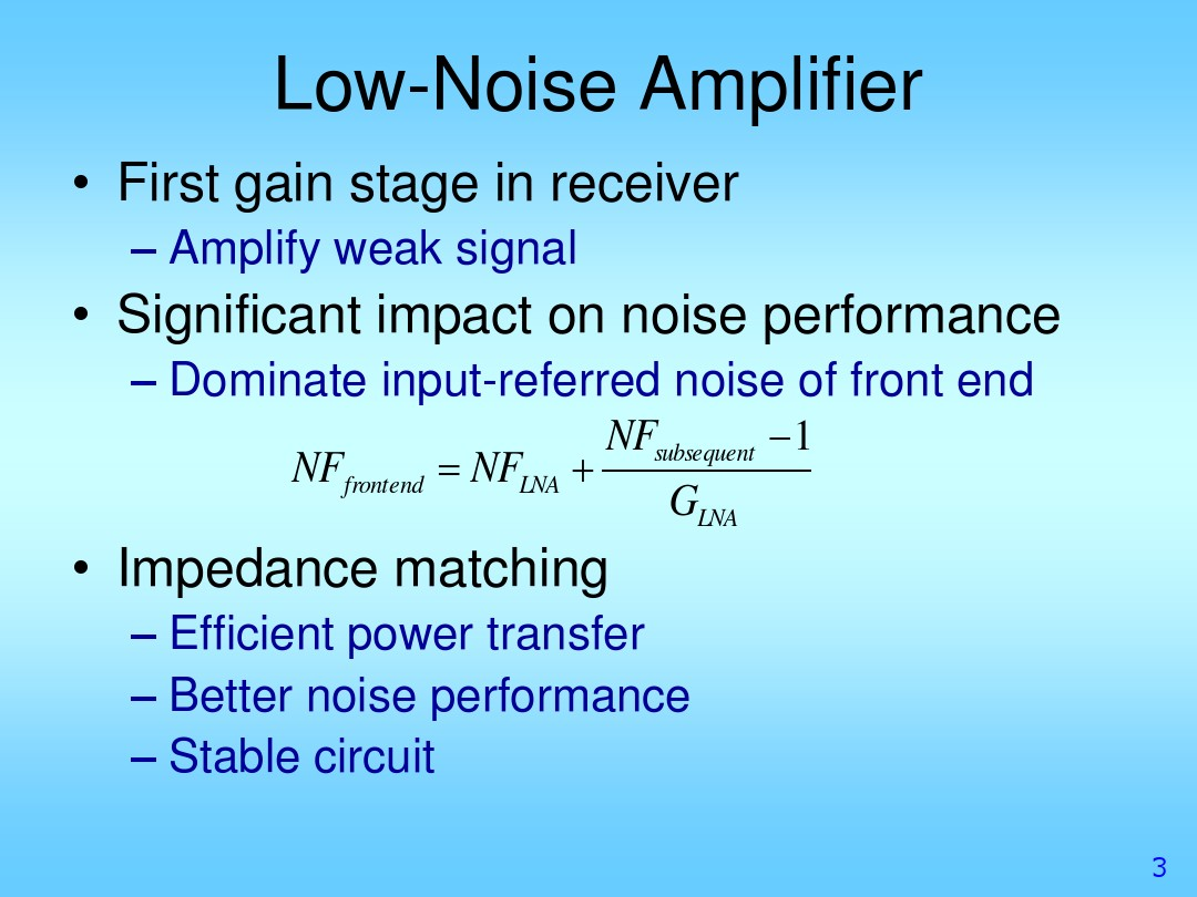 Impedance Matching In Amplifiers