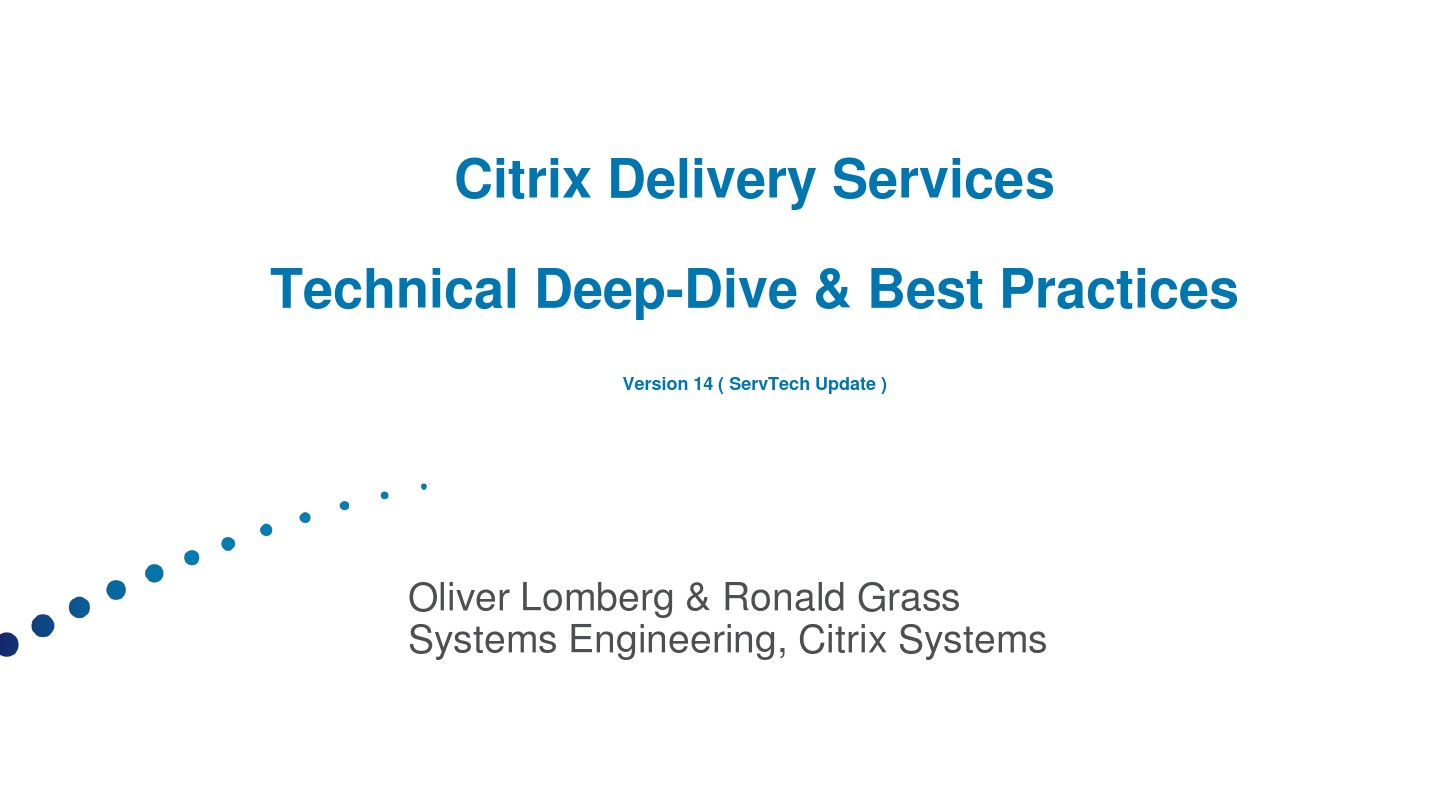 Citrix_Delivery_Services_Best_Practices_and_Tuning_v14_eng_图文_百度文库