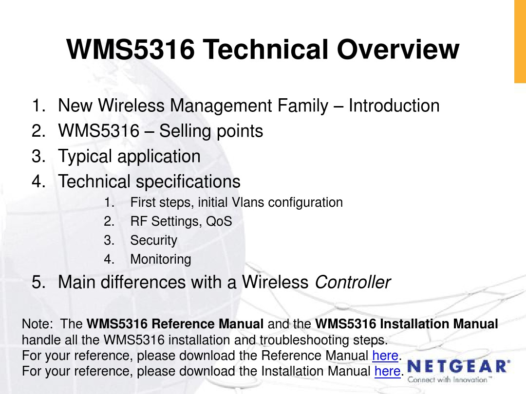 Wms5316 Technical Overview Wireless Control Single Station Download This Document