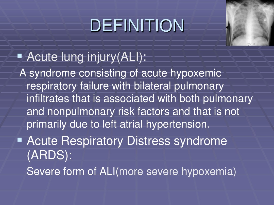 Acute lung injury And Acute Respiratory Distress syndrome_图
