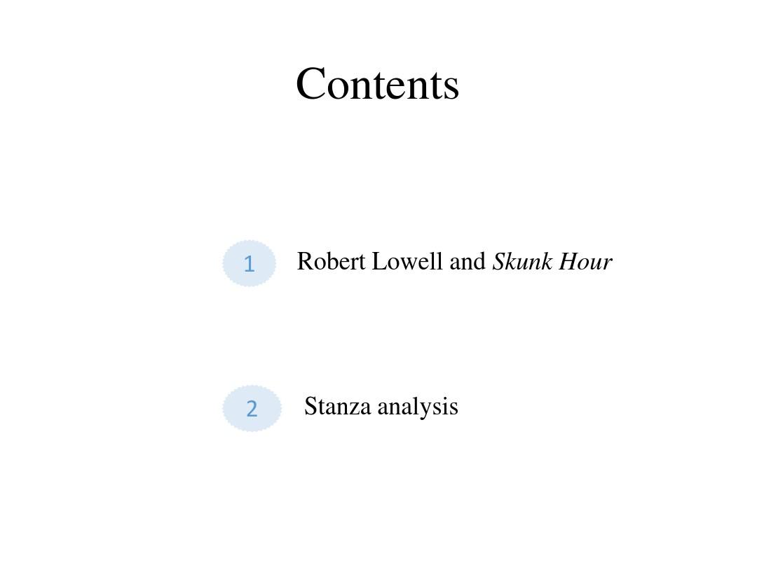 skunk hour analysis