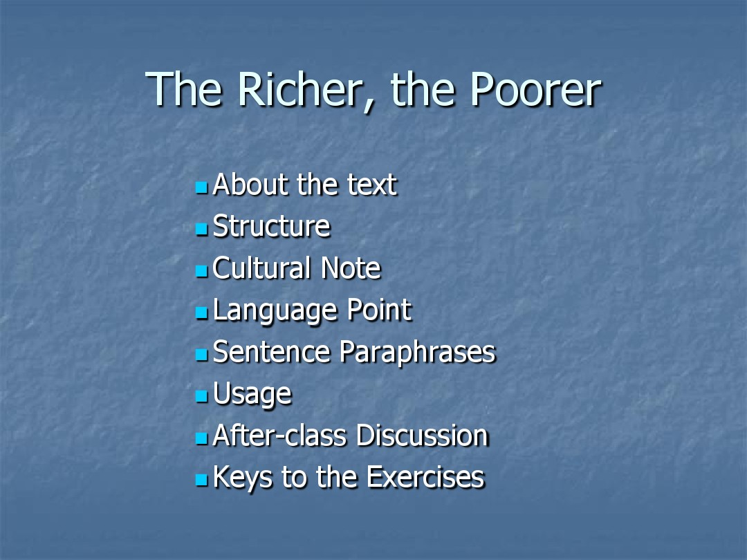 the richer the poorer