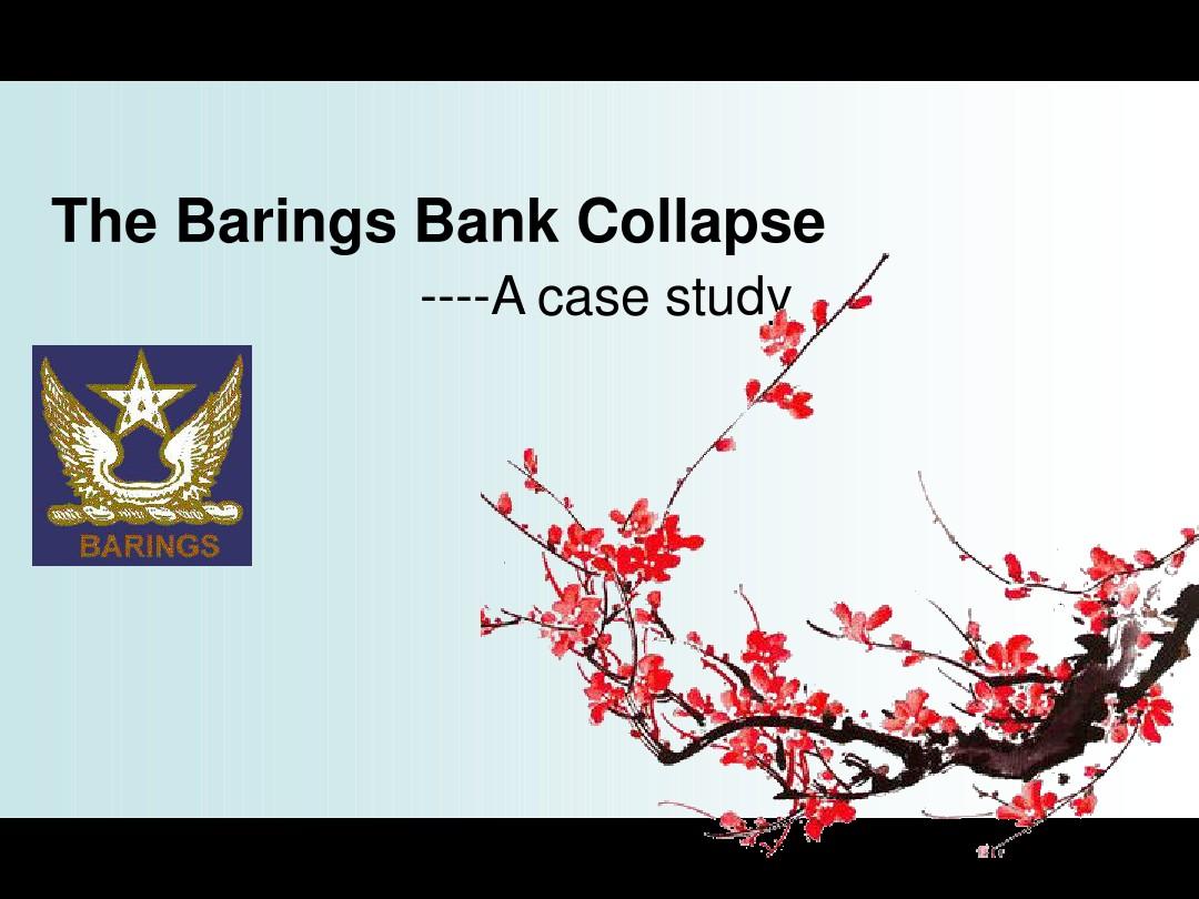 barings bank case study