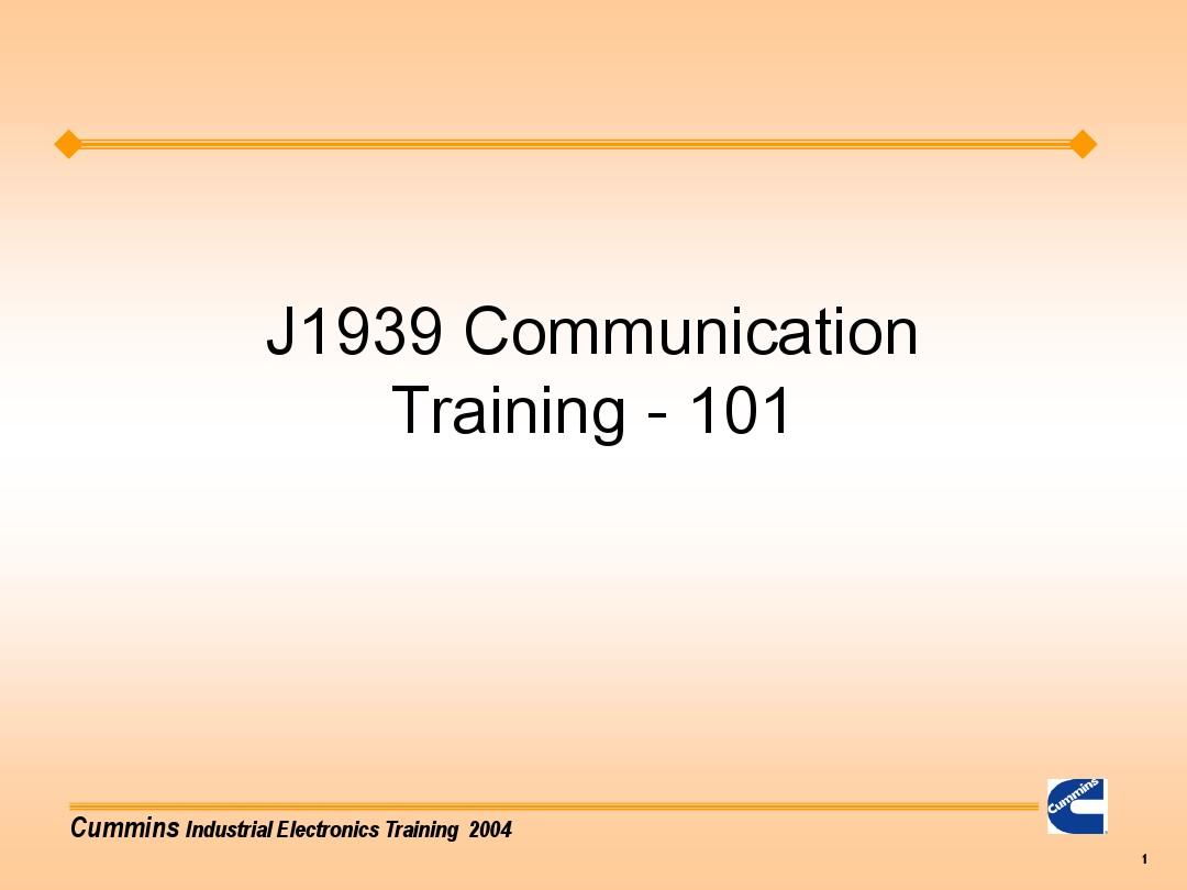 J1939 Protocol Ppt