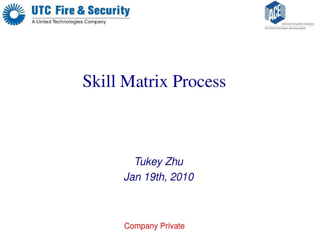 Skill matrix Training material_图文_百度文库