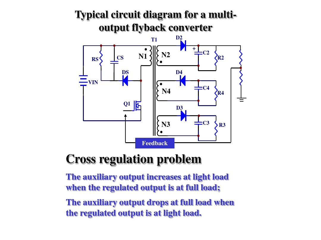 Effect Of Winding Arrangement On Cross Regulation Flyback Basic Single Output Converter Circuit Diagram Converters With Multi Outputs