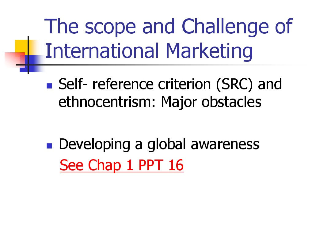 src international marketing