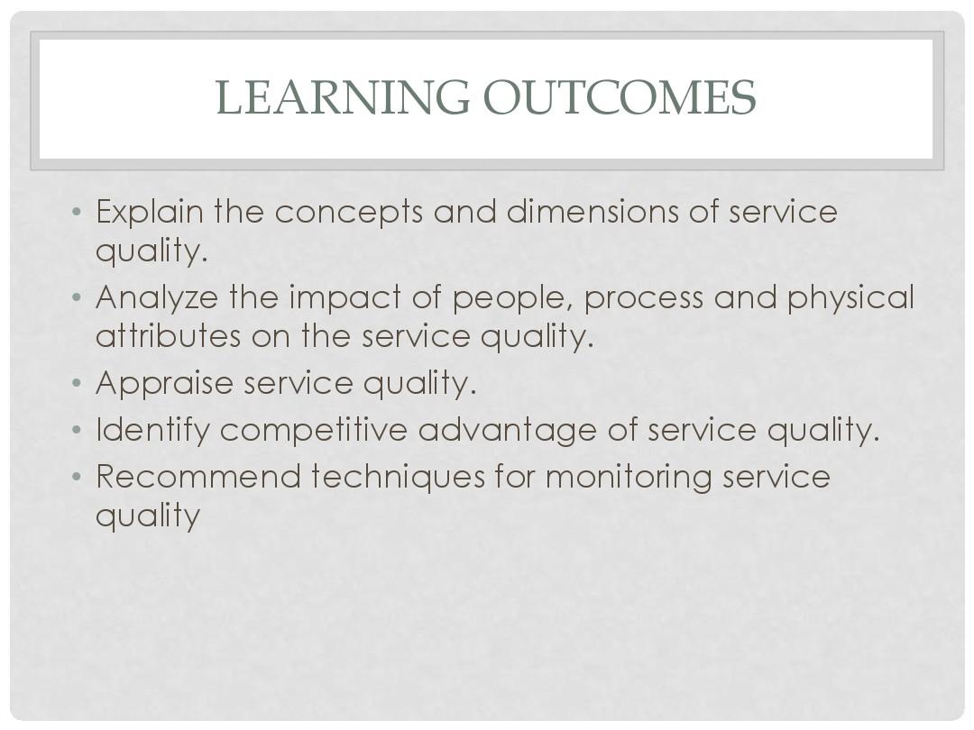 explain service quality